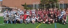 Post match photo from MIT Rugby Alumni game in spring 2010